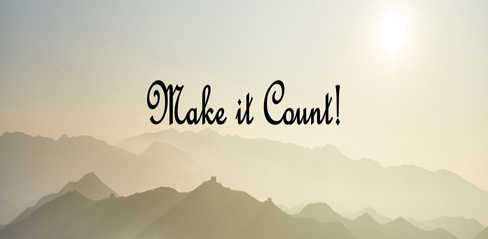 Making It Count!
